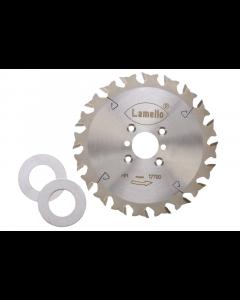 Lamello HW-zaagblad Z20 ⌀ 120 x 2,4 x 22 mm met 2 afstandsringen