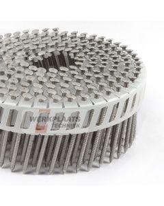 coilnails 2,5x55 rvs/ring lenskop Plastic gebonden 15° (jobbox 1.200)
