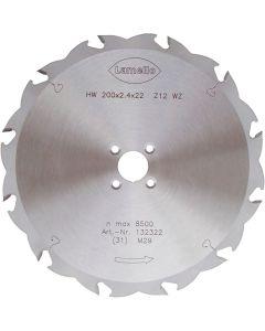 Lamello HW-zaagblad Z12, 4nl ⌀ 200 x 2,4 mm Tanga Delta