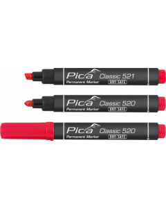 Pica 10st 521/40 Perm. Marker 2-6mm beitel rood
