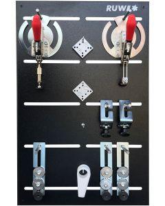 Ruwi Snelspanklemsysteem Set 2 voor Ø 20 mm gaten