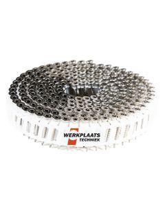 Nail screws op rol 2.8x55 RVS Plastic gebonden 15° Tx15 (jobbox 1200)