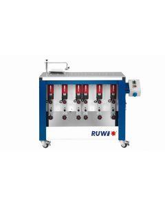 RUWI Type L basis 6 Onderfreesmachine met 6 aandrijving, tafel 1070 x 500 met transportwielen
