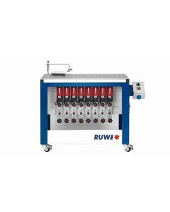 RUWI Type L basis 8 Onderfreesmachine met 8 aandrijving, tafel 1070 x 500 met transportwielen