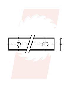 Wisselmes 80x13x2,2 mm35° - schuin