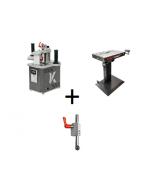 Mafell Combiset - Naadloze kantenbandmachine HIT-M 65 SA + aandrukrol + BAT+ bewerkingstafel